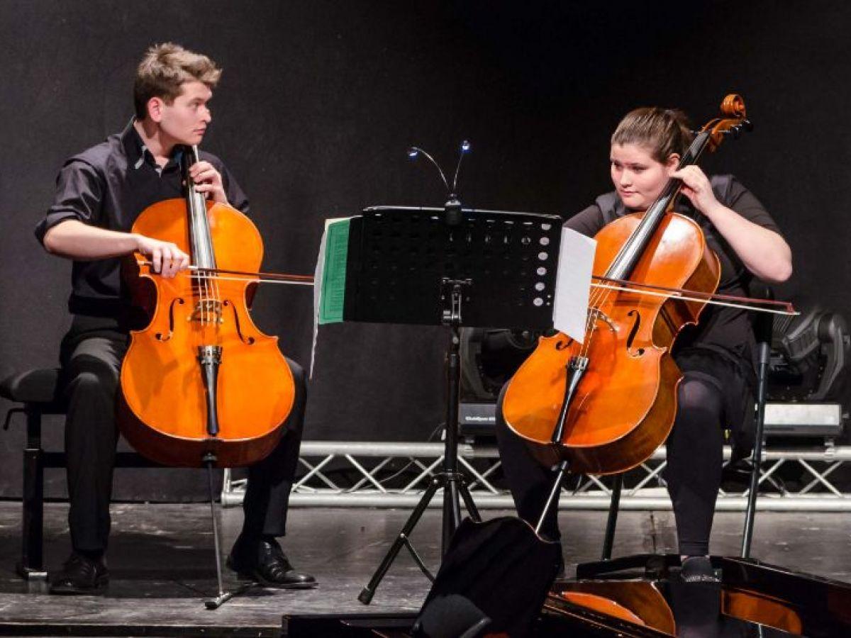 Leonard und Sophie Rees Beim Abschlusskonzert nach dem Regionalwettbewerb